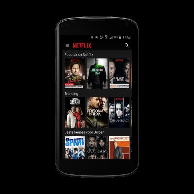 Netflix app op Android Nexus