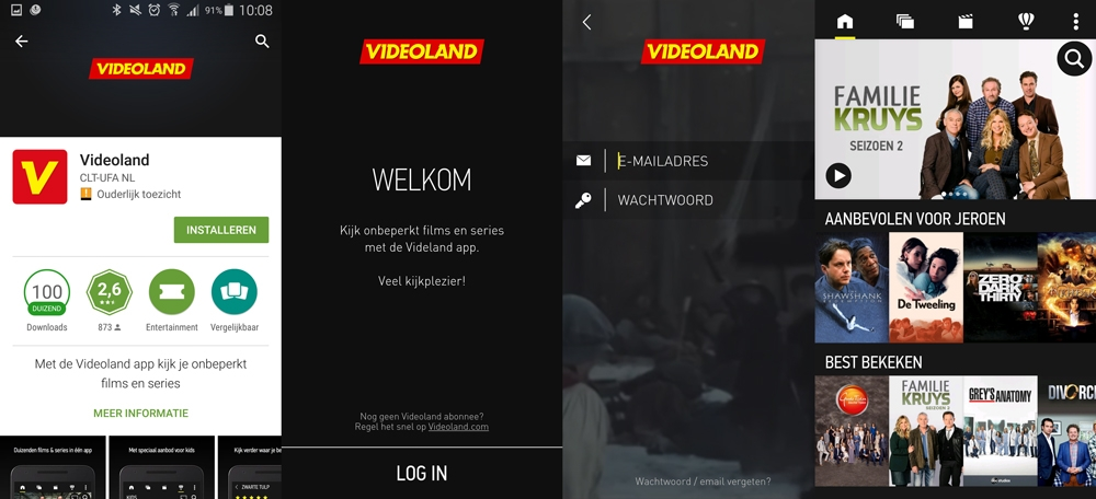 Videoland-android-app-install