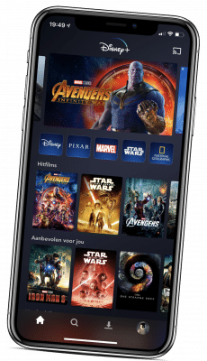 Disney+ app voor iPhone