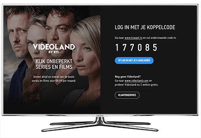 TV videoland koppelen